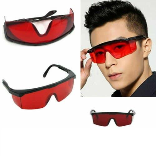 Biohacker szemüveg piros lencsékkel
