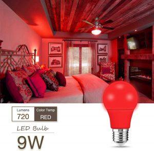 Vörös éjszakai alvást elősegítő LED izzó (4-8db)