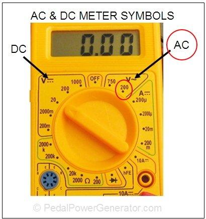 Testfeszültség mérése multiméterrel