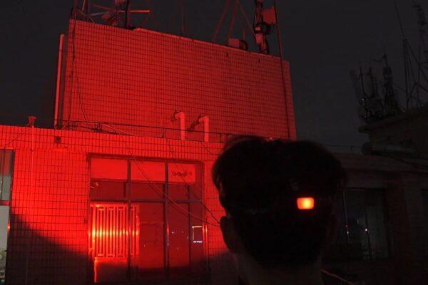 piros fejlámpa