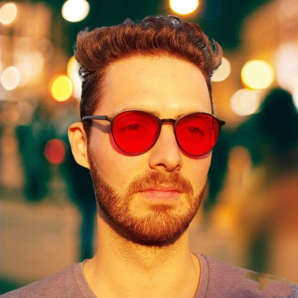 kék fény blokkoló szemüveg piros